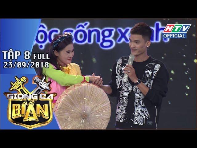 HTV GIỌNG CA BÍ ẨN | Mạc Văn Khoa ngượng ngùng nắm tay cô gái quan họ | GCBA #8 FULL | 23/9/2018