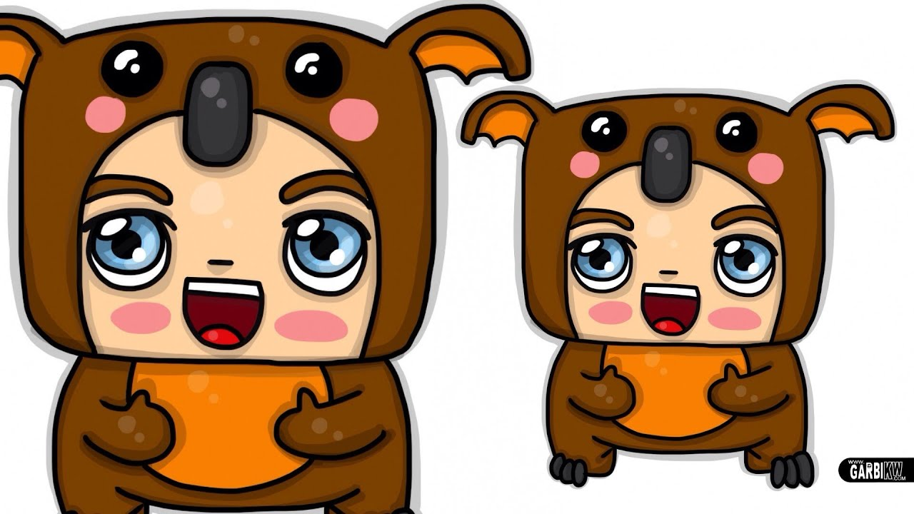 How To Draw A Koala Boy Chibi And Kawaii By Garbi Kw Cute And