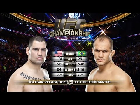 Cain Velasquez vs Junior Dos Santos 166 UFC FIGHT NIGHT EvenTs