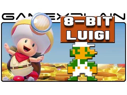 Secret 8 Bit Luigi In Captain Toad Treasure Tracker