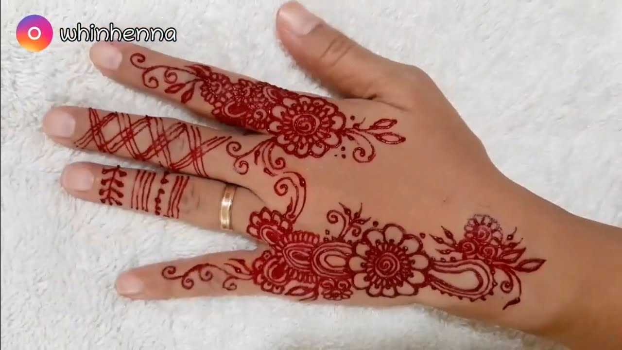 Henna Tangan Simple Dan Mudah Youtube
