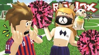 the cheerleader ... sports music teaching it [Midori] LOL + cat San-Roblox.