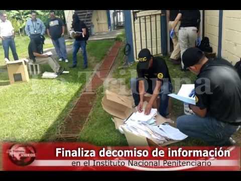 Finaliza decomiso de información en el Instituto Nacional Penitenciario