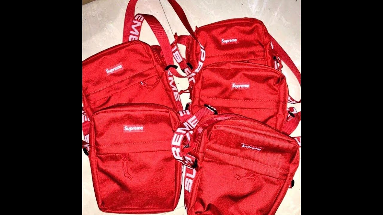 fcbf7c7a7edc6c SUPER EARLY, copping supreme ss18 messenger bag - YouTube