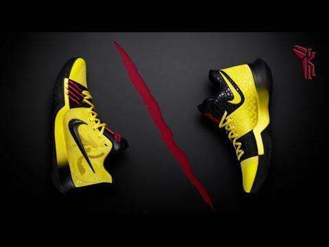 d93591f4dfa Kobe Byrant   Kyrie Irving Team Up On Nike Bruce Lee Kyrie 3 Mamba Mentality  Shoe s