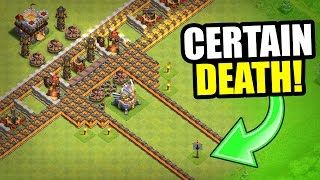 "MISSION IMPOSSIBLE ""GREAT WALL"" TROLL BASE! - Clash Of Clans"