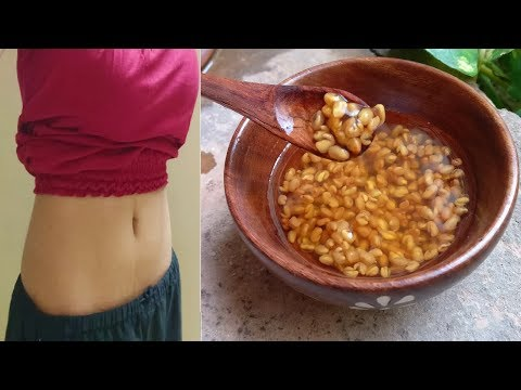 i Lost Belly fat in 1 week with this 1 ingredient Fenugreek seeds water/Methi water for weight loss