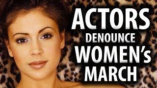 Alyssa Milano Denounces Women's March
