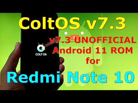 ColtOS v7.3 UNOFFICIAL for Redmi Note 10 ( Mojito / Sunny ) Android 11