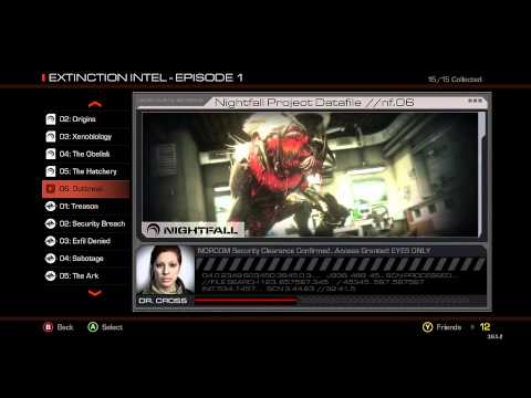 Extinction NIGHTFALL All Intel Storyline Files [1080p] - Call Of Duty Ghosts Onslaught DLC