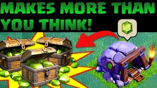 Clash of Clans | GEM MINE MAKES WAY MORE THAN YOU THINK! - 1000+ FREE GEMS | New CoC 2017 Update