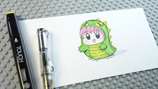 ASMR 손그림 그리기 베베데빌 - ちび☆デビ! thumbnail