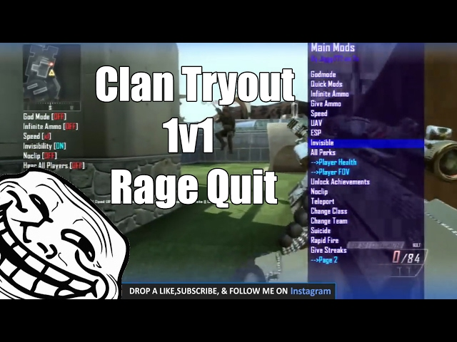 Modder Trying Out For A Clan 1v1!!!