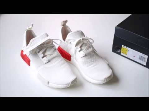 info for 4a193 bd2d4 Unboxing Adidas Original NMD R1 OFF WHITE/OFF WHITE/LUSH RED