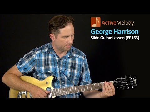 George Harrison Guitar Lesson - Slide in Standard Tuning Guitar Lesson - EP163