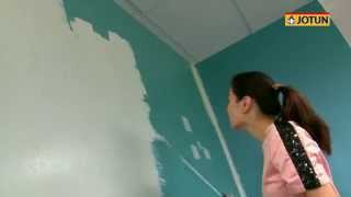 How to paint your home yourself with Jotun Paint-Soft Mint & Minty Breeze colour