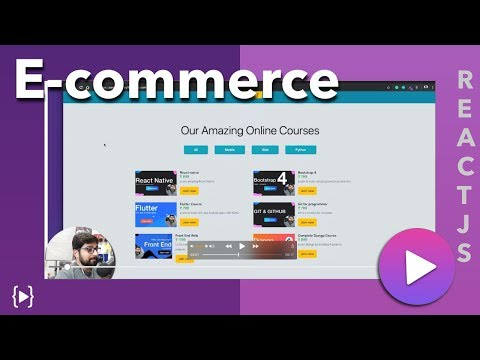 Design a complete E commerce modern website