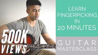 MASTERCLASS - Learn Fingerpicking in 20 minutes - BEGINNER fingerstyle exercises