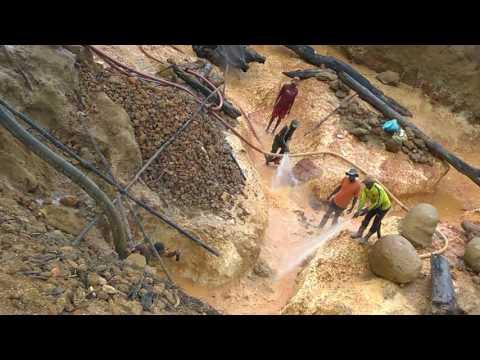 Gold mining in Guyana interior