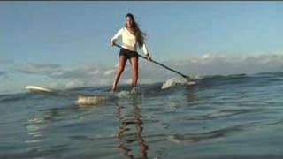 SUP HOW- TO CATCH WAVES stand Up paddle boarding
