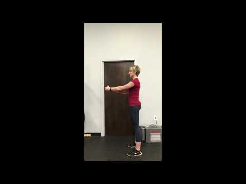 Standing Band Anti Rotation Hold