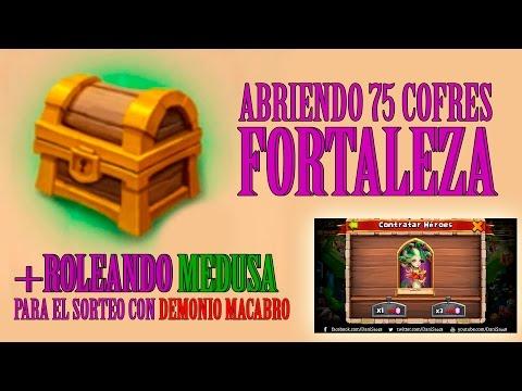 ABRIENDO 75 COFRES DE FORTALEZA y roleando MEDUSA para el sorteo