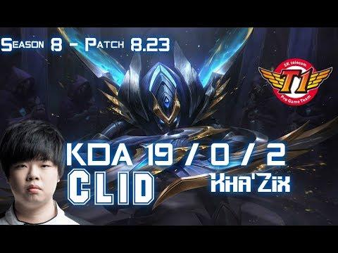 SKT T1 Clid KHA'ZIX vs ELISE Jungle - Patch 8.23 KR Ranked