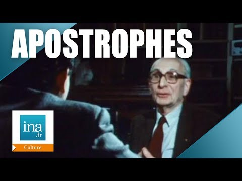 """Apostrophes : Claude Levi Strauss """"Le structuralisme"""" 