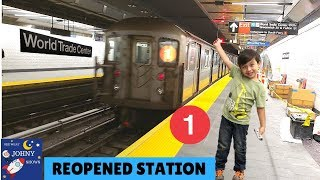 Johny's MTA Train Ride To The NEW WTC Cortlandt St Station Full Station Tour