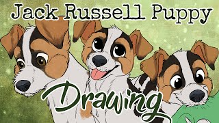 Jack Russell Terrier Puppy - Drawing Timelapse