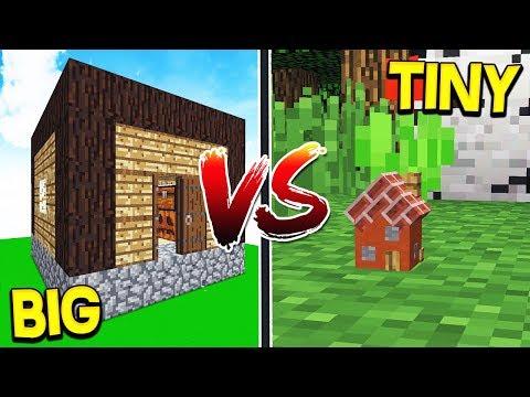 WORLD'S BIGGEST HOUSE VS SMALLEST HOUSE! - Minecraft