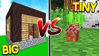 WORLD'S BIGGEST HOUSE VS SMALLEST HOUSE! - Minecraft