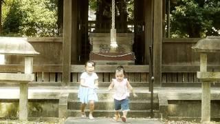 近所の神社で暇つぶし.