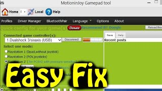 MotionJoy Error Code:  0X-1ffffdb9  EASY FIX!