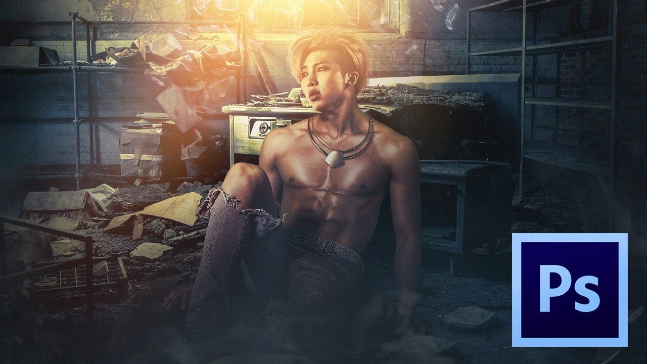 Rap Monster Rm Mixtape Artwork Photoshop Speed Artfan Art