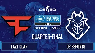CS:GO - FaZe Clan vs. G2 Esports [Dust2] Map 1 - IEM Beijing 2020 Online - Quarter-final - EU