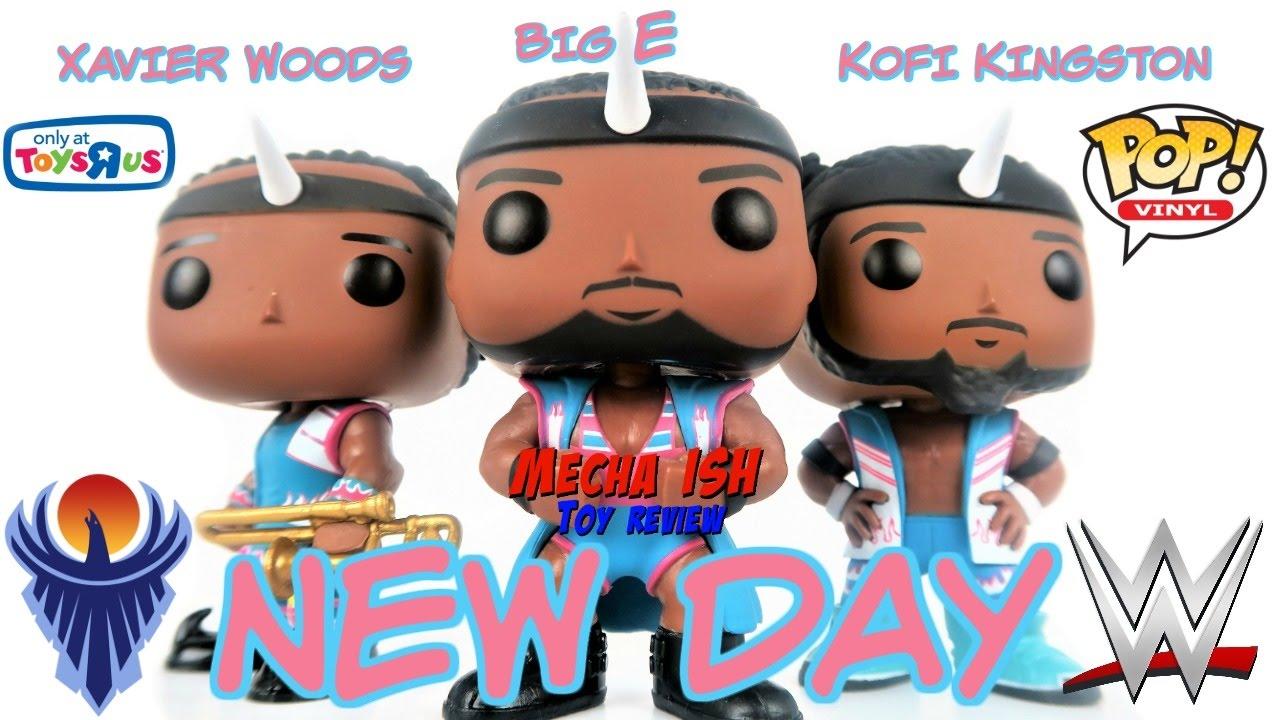 FUNKO POP WWE NEW DAY BIG E XAVIER /& KOFI KINGSTON EXCLUSIVE 3 PACK VINYL FIGURE