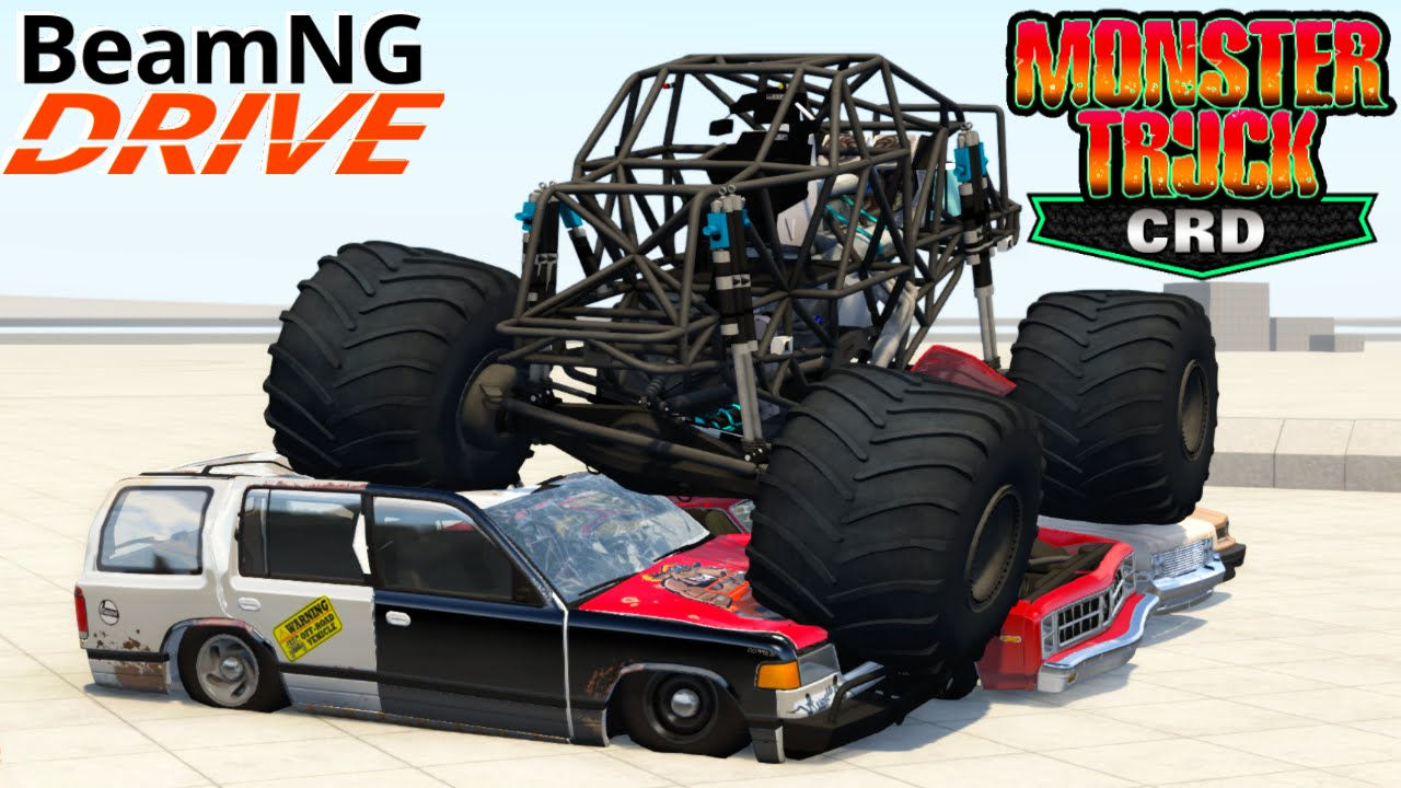 Beamng Drive Bigfoot Crd Monster Truck Crushing Cars Youtube
