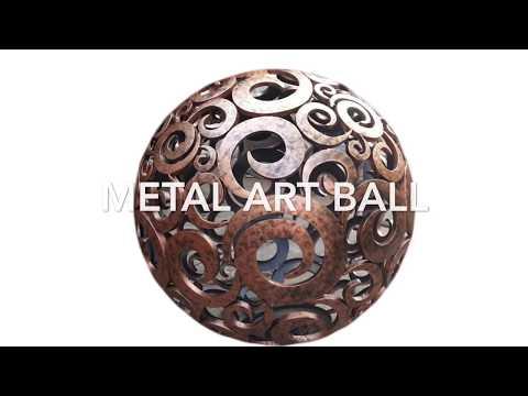 Large Art Steel Ball   Art Metal sphere