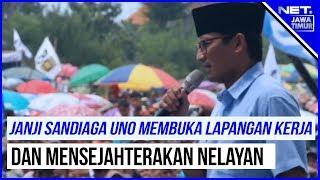 Kampanye Terbuka Sandiaga Uno Di Lamongan - NET. JATIM