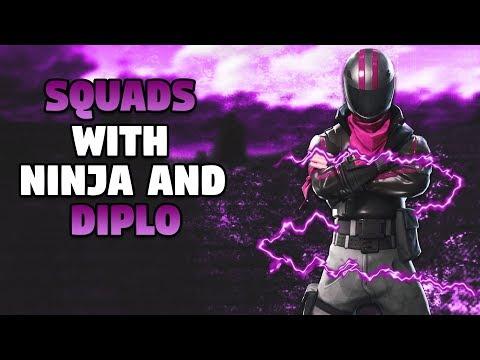 14 Kills - Squads With Ninja And Diplo - Fortnite Battle Royale Gameplay