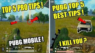 PUBG Mobile Top 5 New tips and tricks And How to play like pro player full Guide !