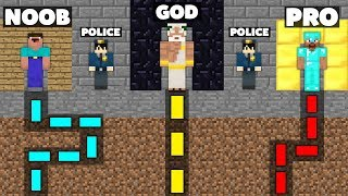 Minecraft Battle: NOOB vs PRO vs GOD : SECRET MAZE PRISON ESCAPE Challenge in Minecraft Animation