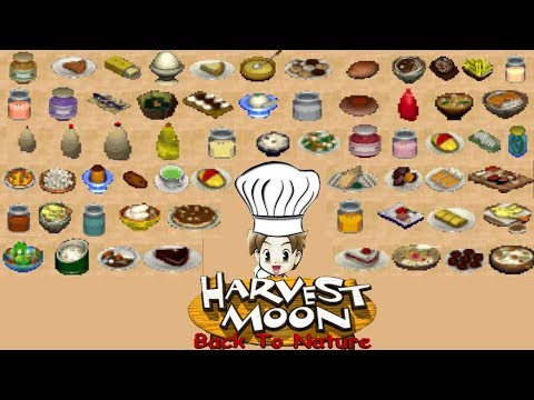 Harvest Moon Back To Nature All Recipe Part 1