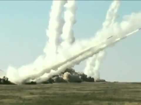 Iskander and SMERCH - Mobile Ballistic Missile Launch