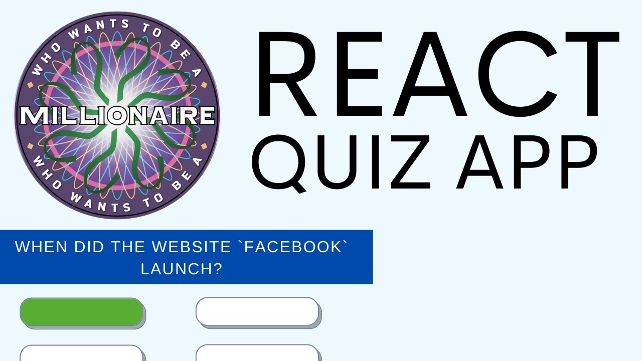 Who Wants to be a Millionaire App Tutorial using React