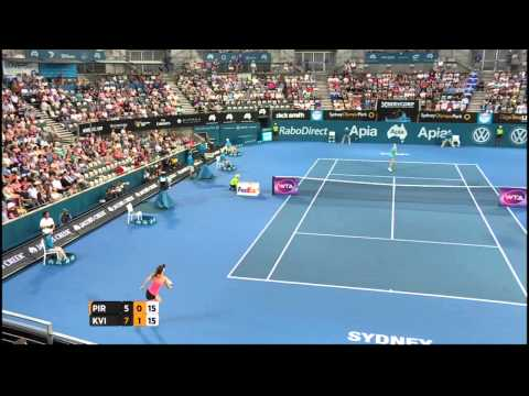 Tsvetana Pironkova v Petra Kvitova highlights (SF) - Apia International Sydney 2015