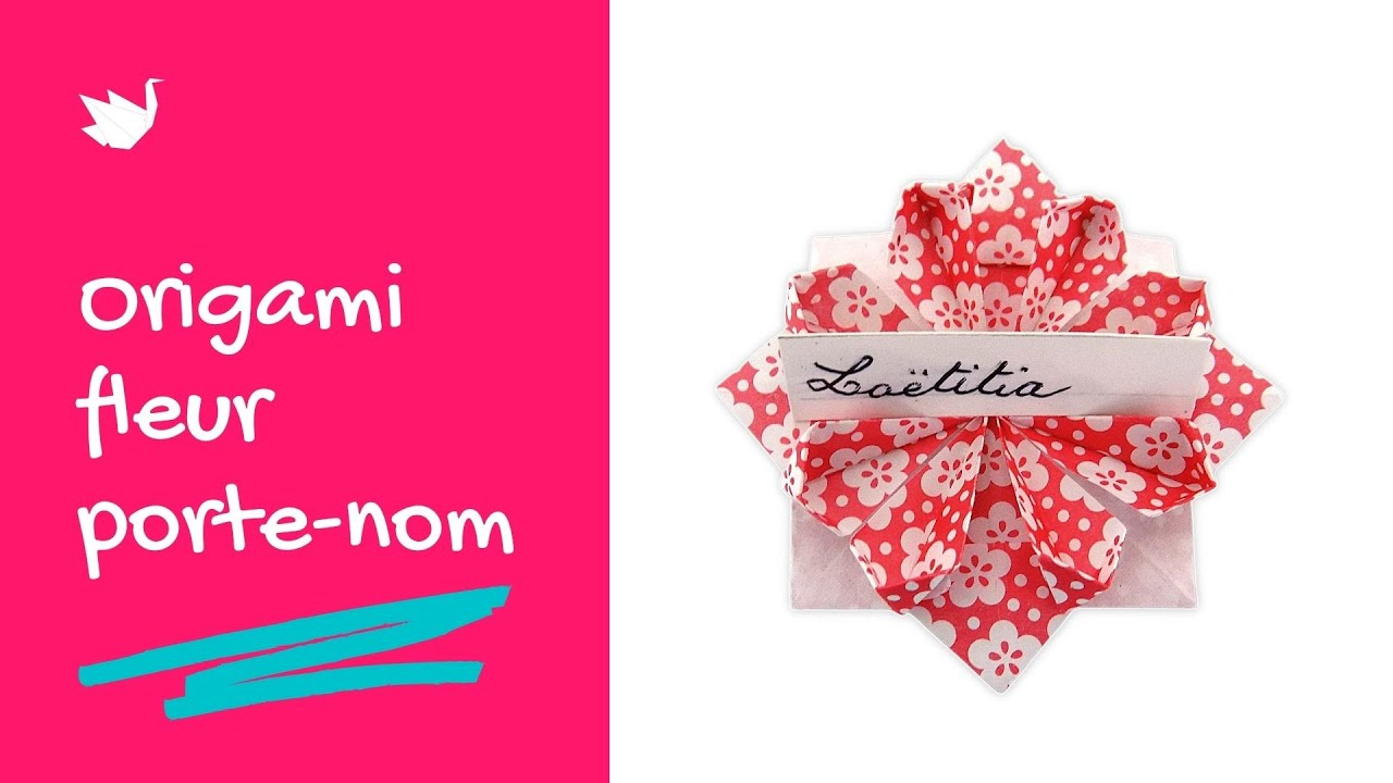 Origami fleur porte nom tutoriel youtube - Youtube origami fleur ...