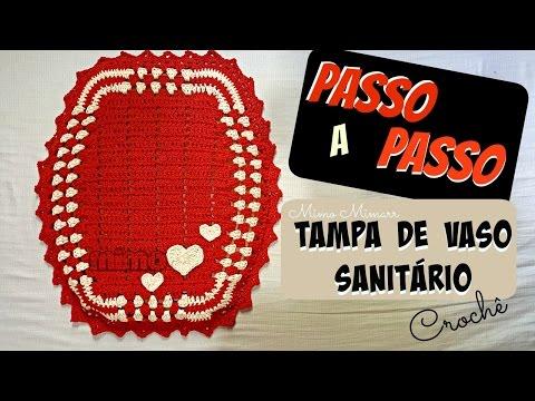 💗PAP TAMPA VASO SANITÁRIO- crochê - DIY- TUTORIAL COMPLETO(leia a descrição caso tenha dúvidas)