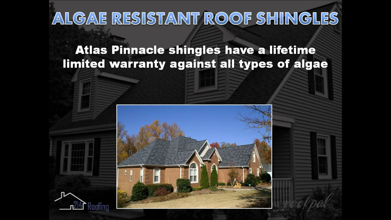 214 Roofing Atlas Pinnacle Pristine Architectural Shingles Featuring Scotchgard Protector From 3m